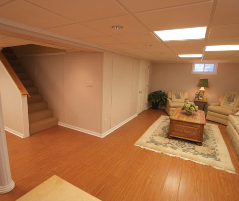 Beautiful Wood Laminate Basement Flooring In LI Wood Finish Basement Floori